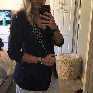 3/4 sleeve studded blazer
